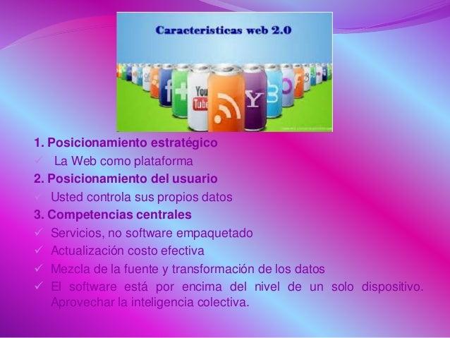1. Posicionamiento estratégico  La Web como plataforma 2. Posicionamiento del usuario  Usted controla sus propios datos ...