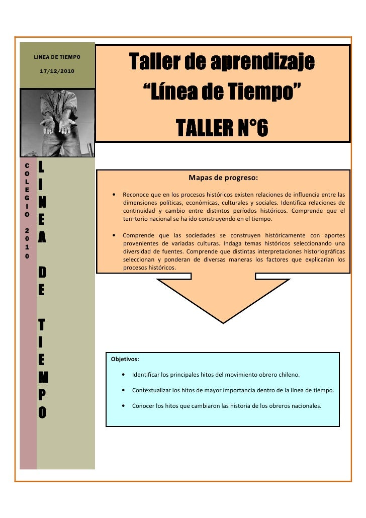 """Taller de aprendizaje    LINEA DE TIEMPO     17/12/2010                               """"Línea de Tiempo""""                   ..."""