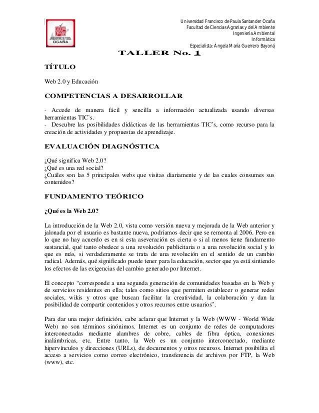 Universidad Francisco de Paula Santander Ocaña                                                        Facultad de Ciencias...