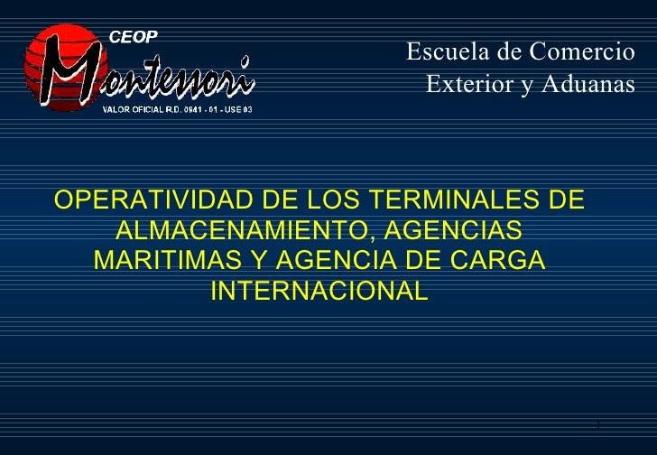 Taller operatividad de terminales de almacenamiento for Agencias de comercio exterior