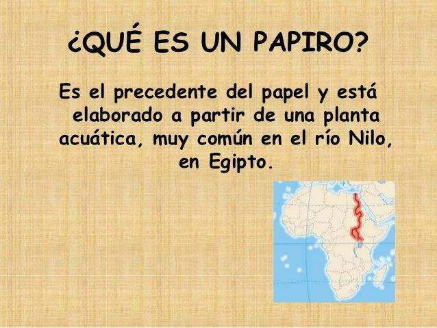 Taller papiro y cartucho egipcio