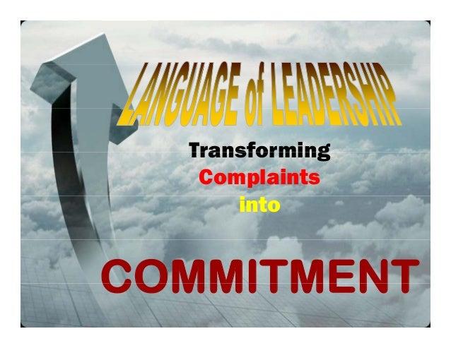 TransformingTransformingComplaintsintoCOMMITMENTCOMMITMENT