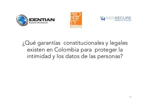 Marco Legal De La Privacidad Identidad Digital Y La Protección De Da