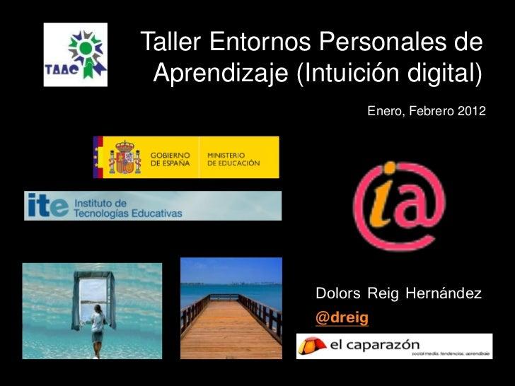 Taller Entornos Personales de Aprendizaje (Intuición digital)                      Enero, Febrero 2012                Dolo...