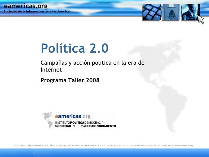 Política 2.0                              Campañas y acción política en la era de                              Internet   ...