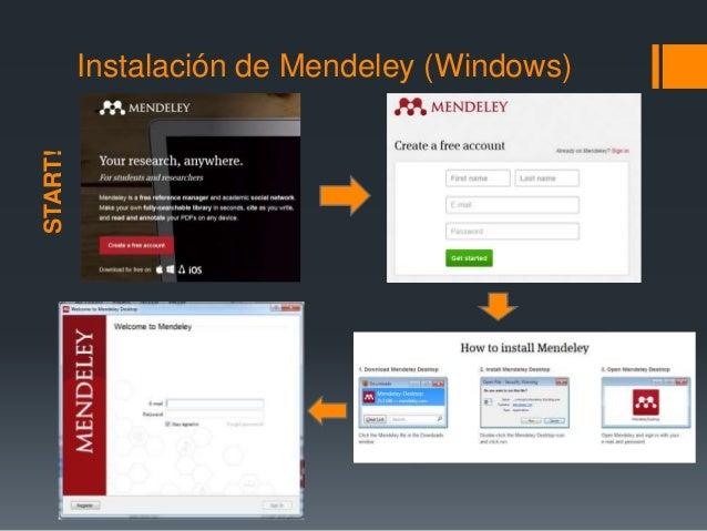 Instalación de Mendeley (Windows)  START!