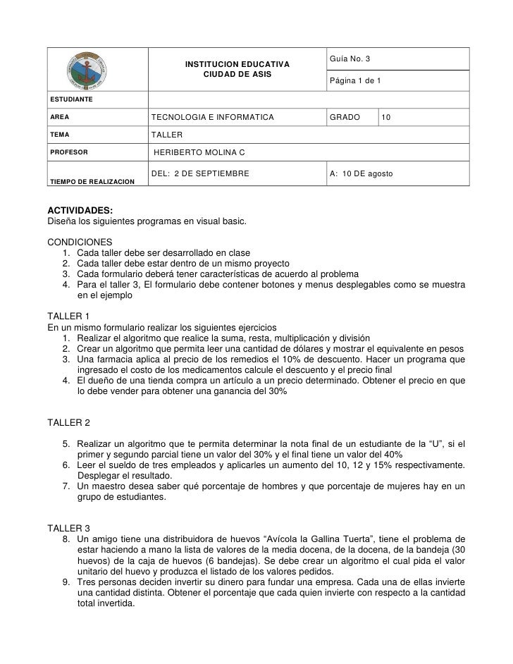 Guía No. 3                                  INSTITUCION EDUCATIVA                                      CIUDAD DE ASIS     ...