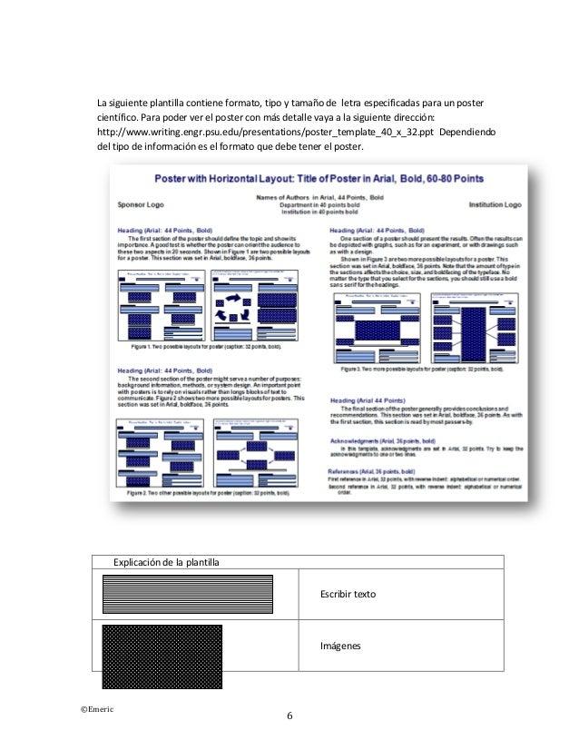 formato poster cientifico - Pertamini.co