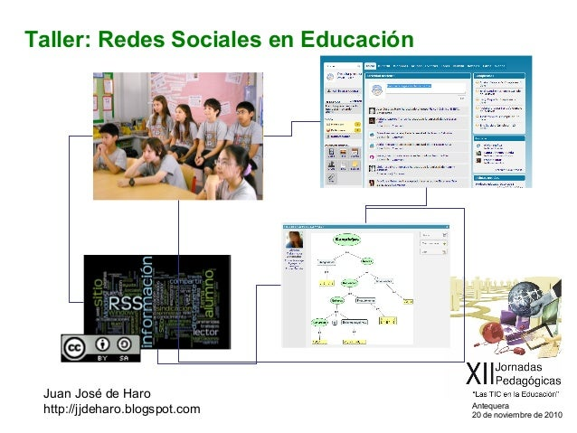 Antequera 20 de noviembre de 2010 Taller: Redes Sociales en Educación Juan José de Haro http://jjdeharo.blogspot.com