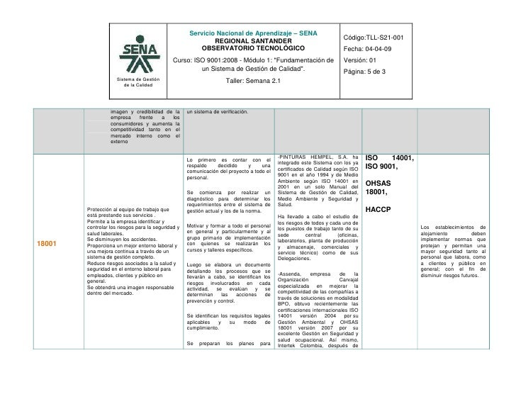 Taller semana 2 clases de sistemas de gestión