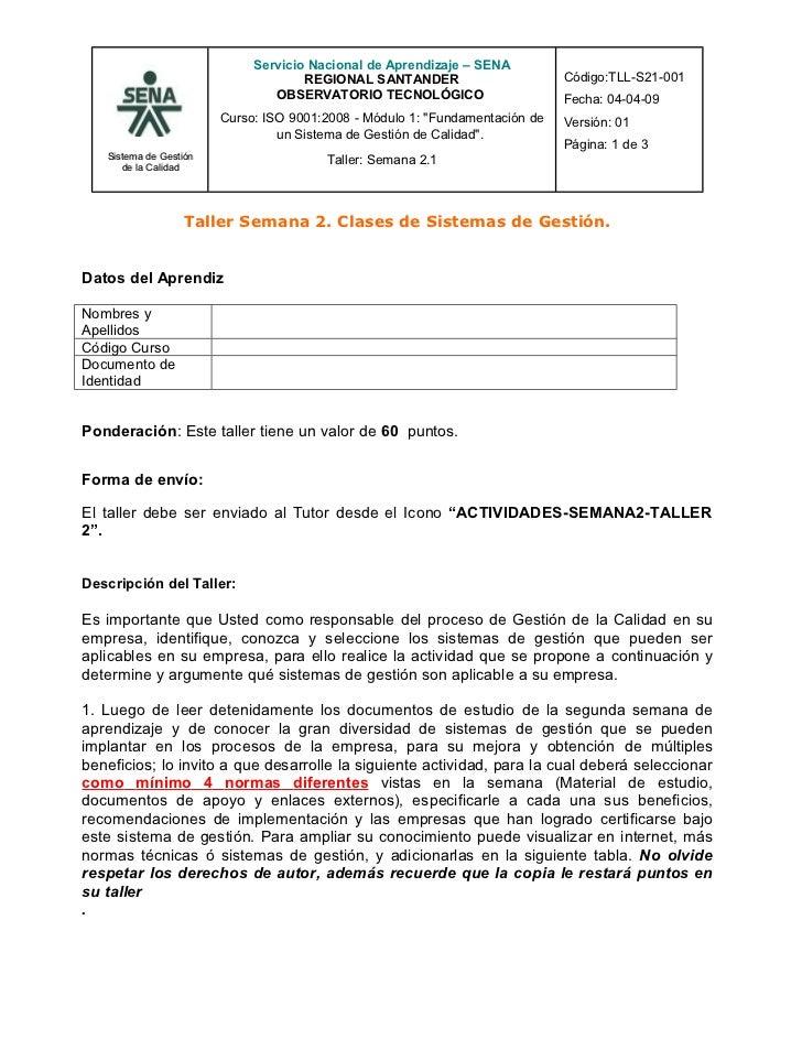 Servicio Nacional de Aprendizaje – SENA                                     REGIONAL SANTANDER                       Códig...