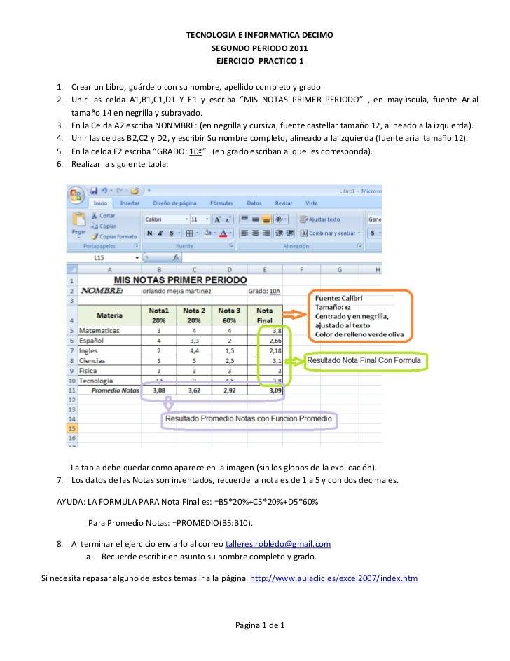 TECNOLOGIA E INFORMATICA DECIMO                                           SEGUNDO PERIODO 2011                            ...