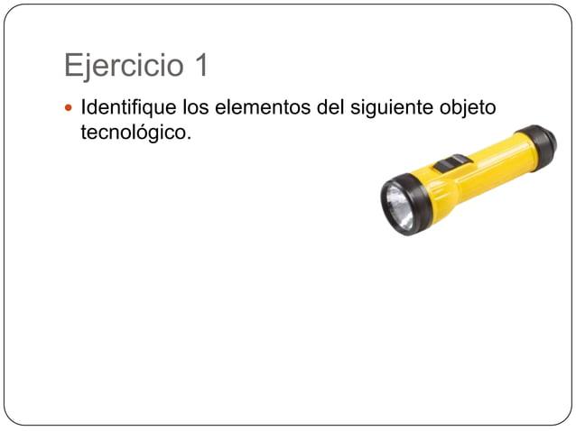 Ejercicio 1 Identifique los elementos del siguiente objetotecnológico.