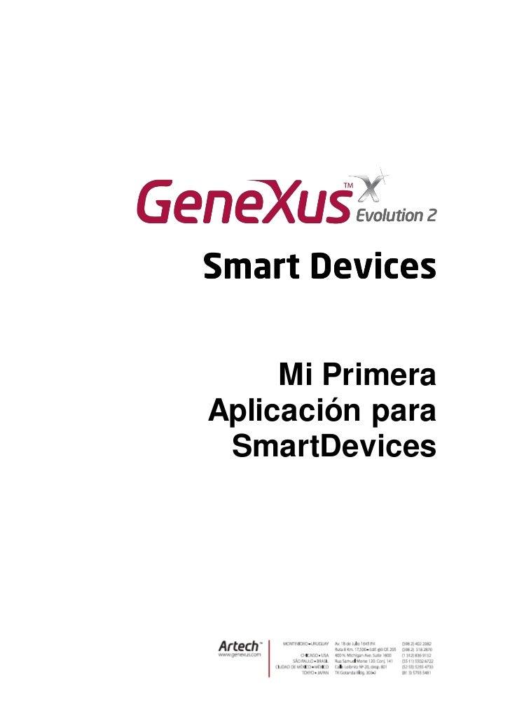Mi PrimeraAplicación para SmartDevices