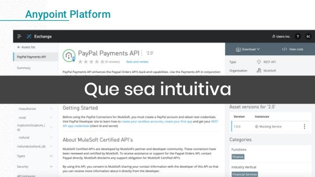 Anypoint Platform Que sea intuitiva