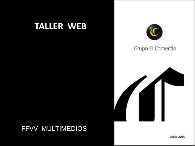 FFVV MULTIMEDIOS TALLER WEB Mayo 2014