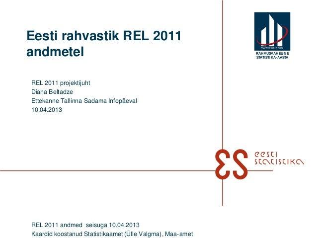 Eesti rahvastik REL 2011andmetel                                                   RAHVUSVAHELIN E                        ...