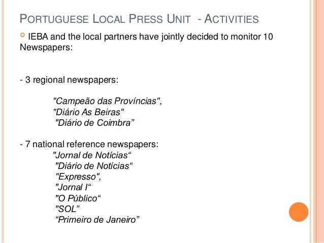 In Other Words meeting in Tallinn: Portuguese Local Press Unit (IEBA)