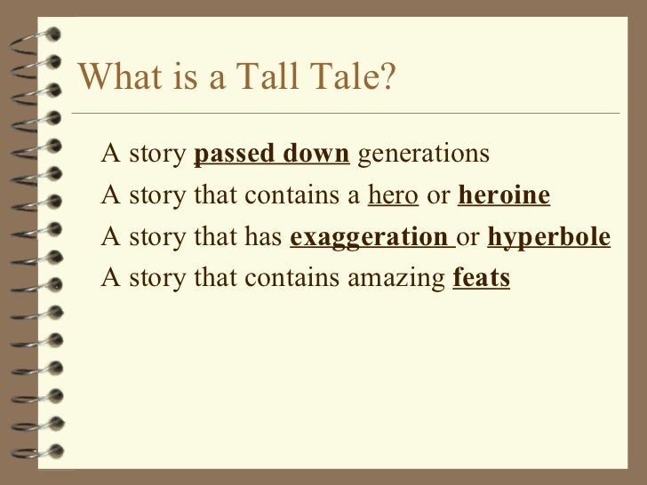 What Is A Tall Tale Definition For Kids