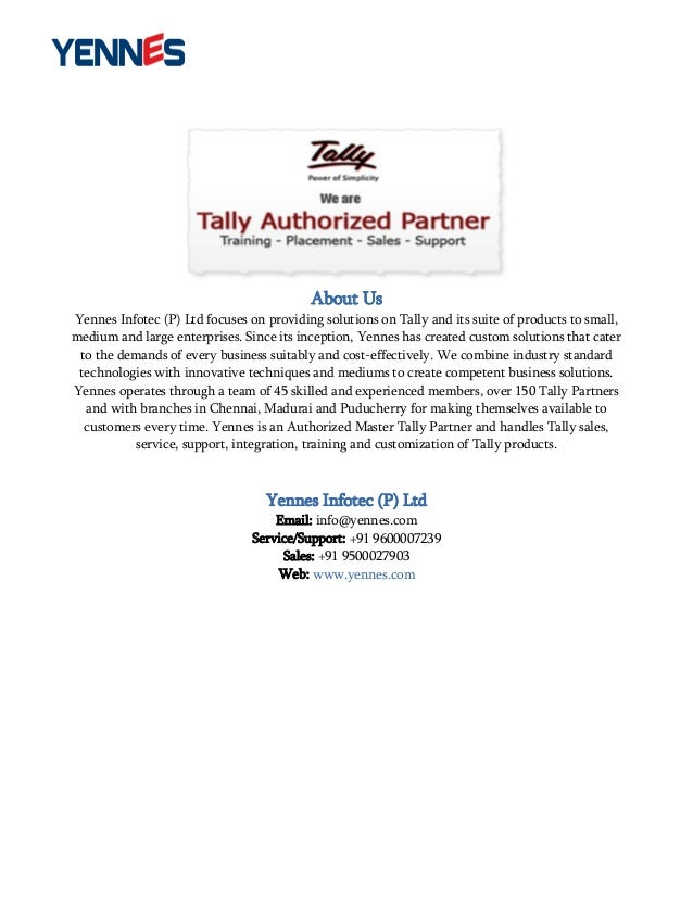 Partner With Tally Tally Solutions | Autos Post
