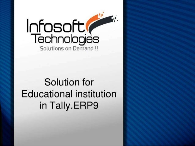 Tally erp9 educationsector