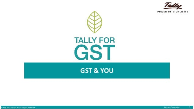 Tally for GST