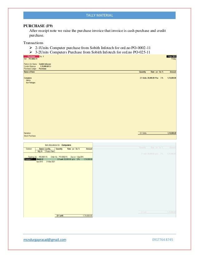 computer purchase invoice