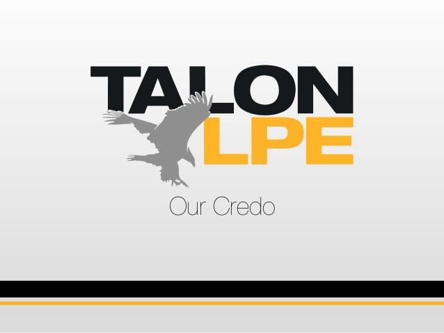 Our Credo