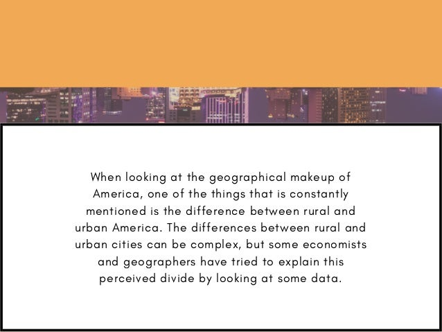 When looking at the geographical makeup of America, one of the things that is constantly mentioned is the difference betwe...