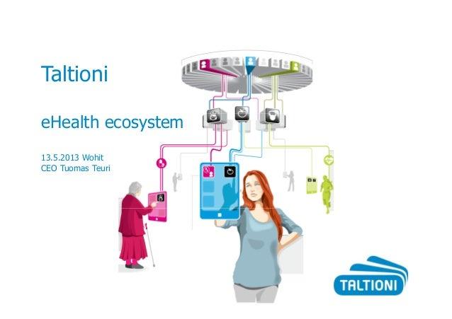 TaltionieHealth ecosystem13.5.2013 WohitCEO Tuomas Teuri