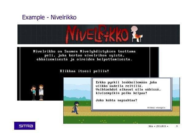 Example - Nivelrikko Sitra • 29.5.2015 • 9