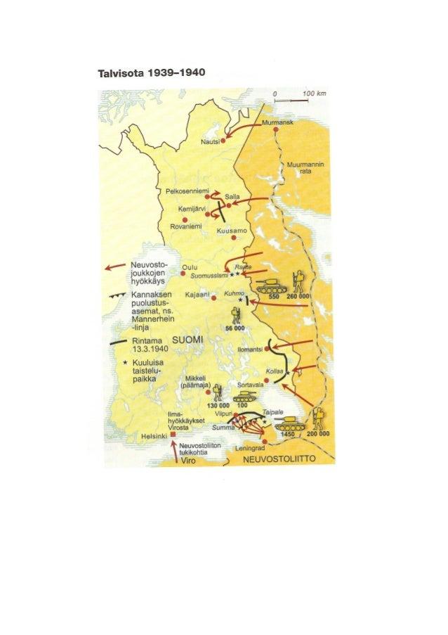 Talvisota Kartta