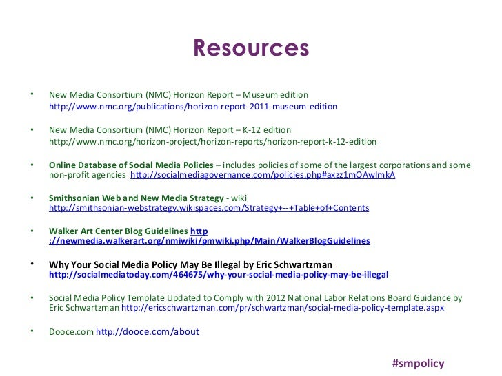 smpolicy 27 resources new media