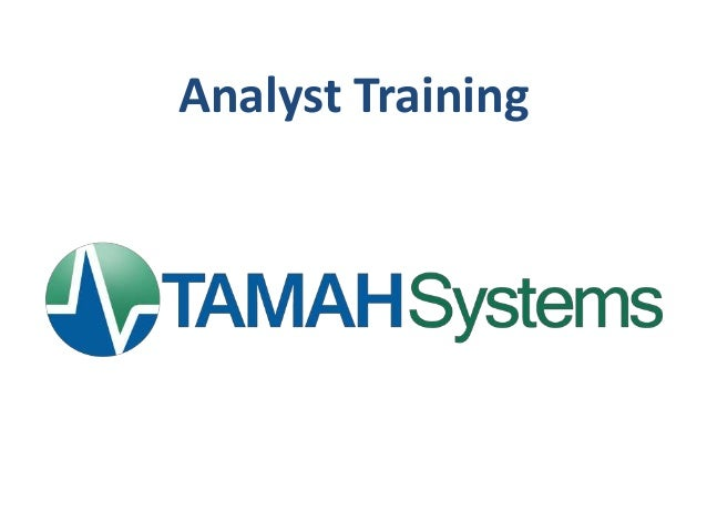 Analyst Training