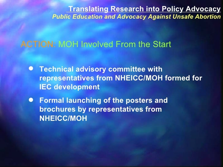 <ul><li>Technical advisory committee with representatives from NHEICC/MOH formed for IEC development </li></ul><ul><li>For...