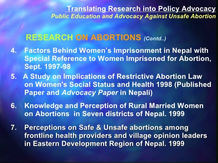 <ul><li>4. Factors Behind Women's Imprisonment in Nepal with Special Reference to Women Imprisoned for Abortion, Sept. 199...