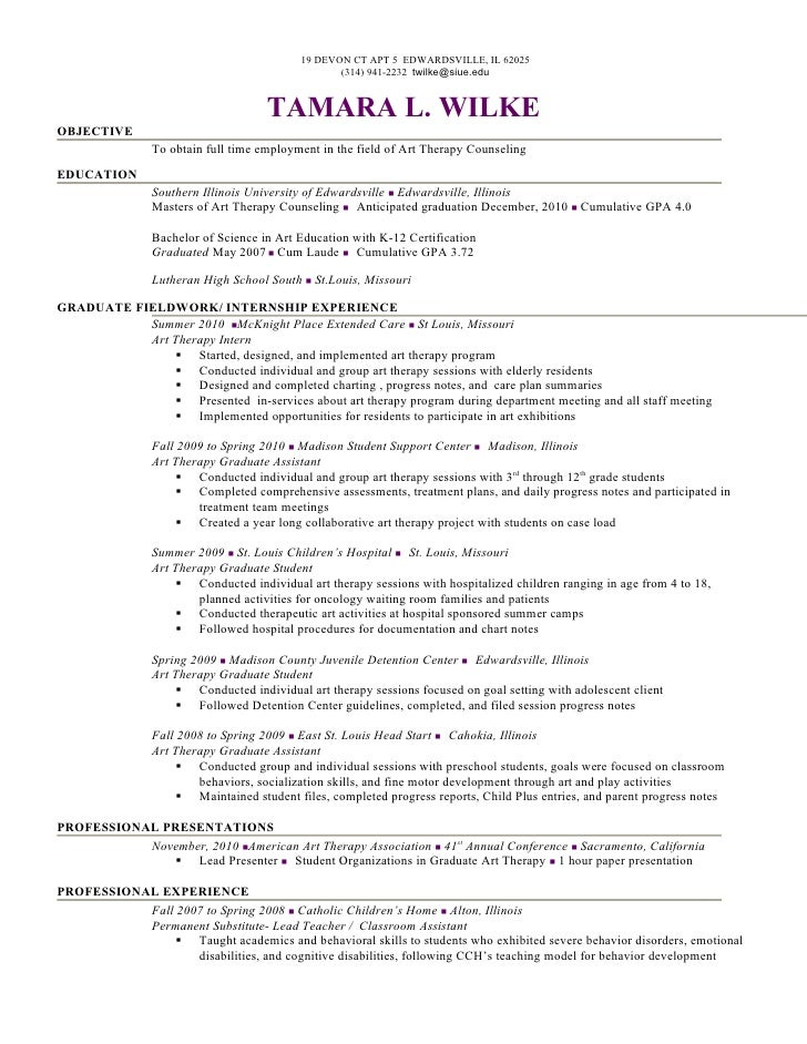 art therapist resume. massage therapist resume sample behavioral, Presentation templates