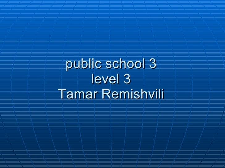 public school 3 level 3 Tamar Remishvili