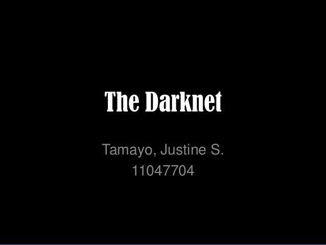 The Darknet Tamayo, Justine S. 11047704