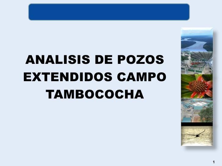 <ul><li>ANALISIS DE POZOS EXTENDIDOS CAMPO TAMBOCOCHA </li></ul>
