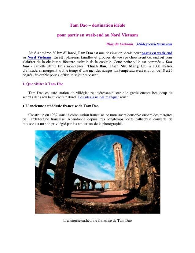 Tam Dao – destination idéale pour partir en week-end au Nord Vietnam Blog du Vietnam : 360degresvietnam.com Situé à enviro...