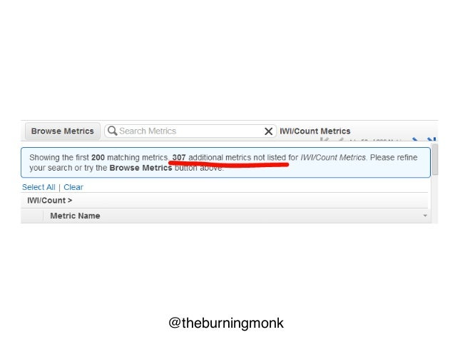 """@theburningmonk cloudWatch.Select( namespaceLike """"elasticache"""" + nameLike """"cpu"""" + max (>) 80.0 @ last 24 hours 