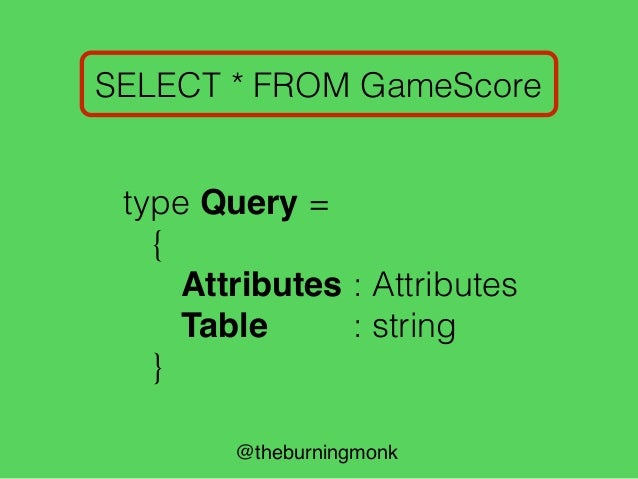 """@theburningmonk SELECT * FROM GameScore pSelect let pSelect = skipStringCI """"select"""""""