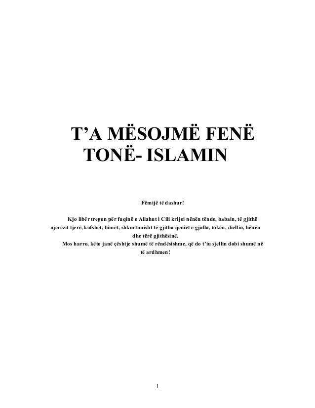 TA MSOJM FENTON ISLAMINFmij T DashurKjo Libr Tregon Pr Fuqin E PRMBAJTJAHYRJET