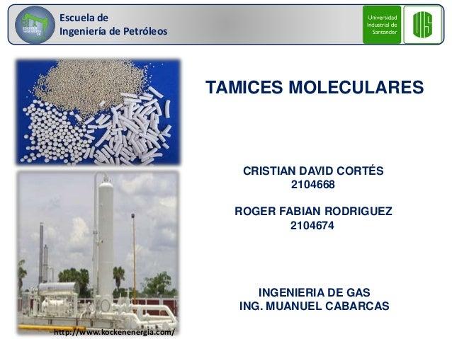 Escuela de  Ingeniería de Petróleos  TAMICES MOLECULARES  CRISTIAN DAVID CORTÉS  2104668  ROGER FABIAN RODRIGUEZ  2104674 ...