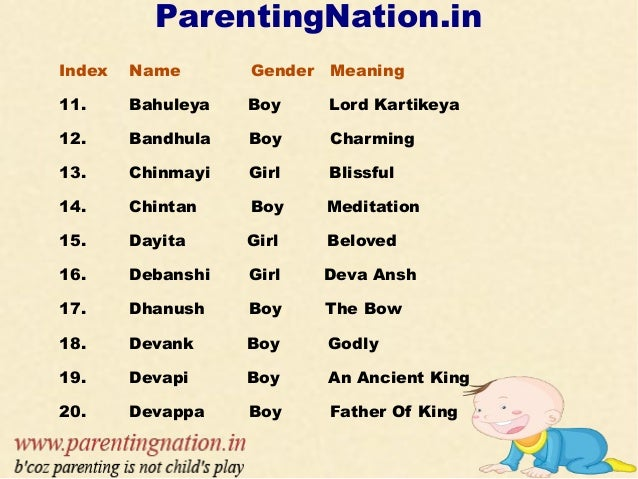 Tamil Baby Names With Meanings