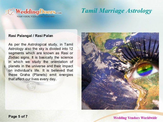 Tamil Marriage Astrology