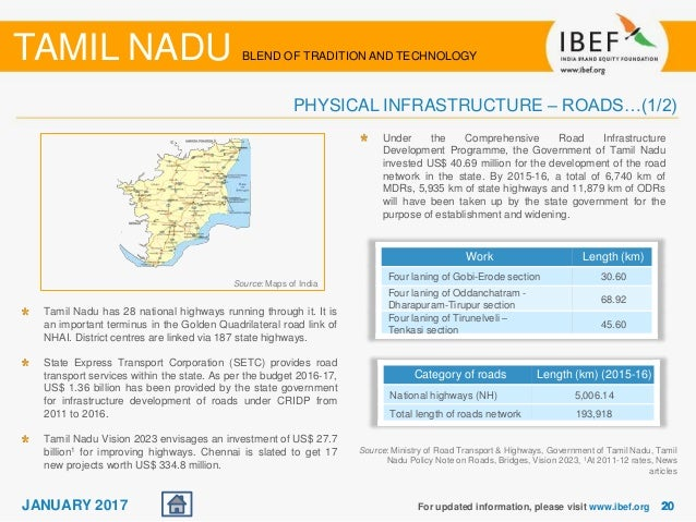Tamil Nadu State Report - January 2017