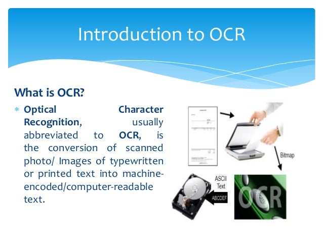 3 What Is OCR Optical Character Recognition Usually Abbreviated