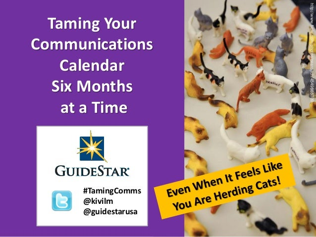http://www.flickr.com/photos/ceardach/4549865709  Taming YourCommunications    Calendar   Six Months    at a Time     #Tam...